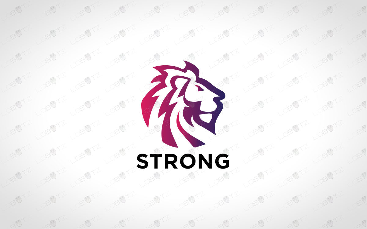 Premade Minimalist Lion Logo Royal Lion Logo For Sale