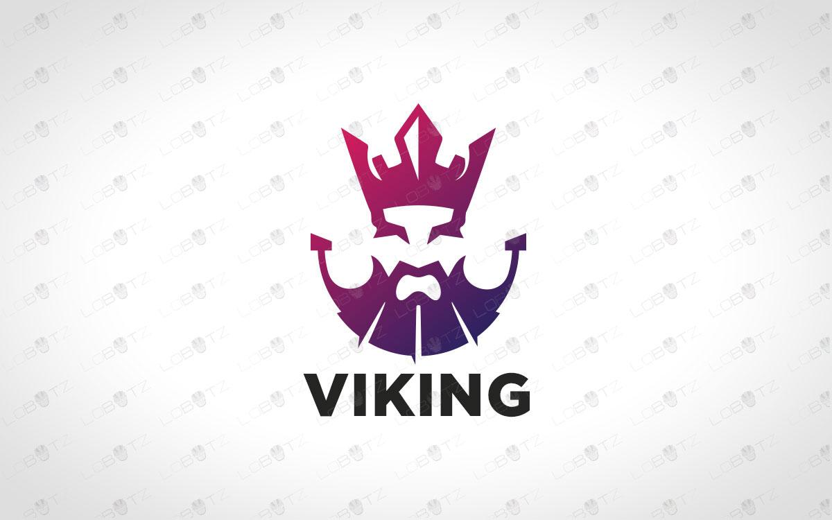 Minimalist Viking Logo For Sale Premade Viking Logo