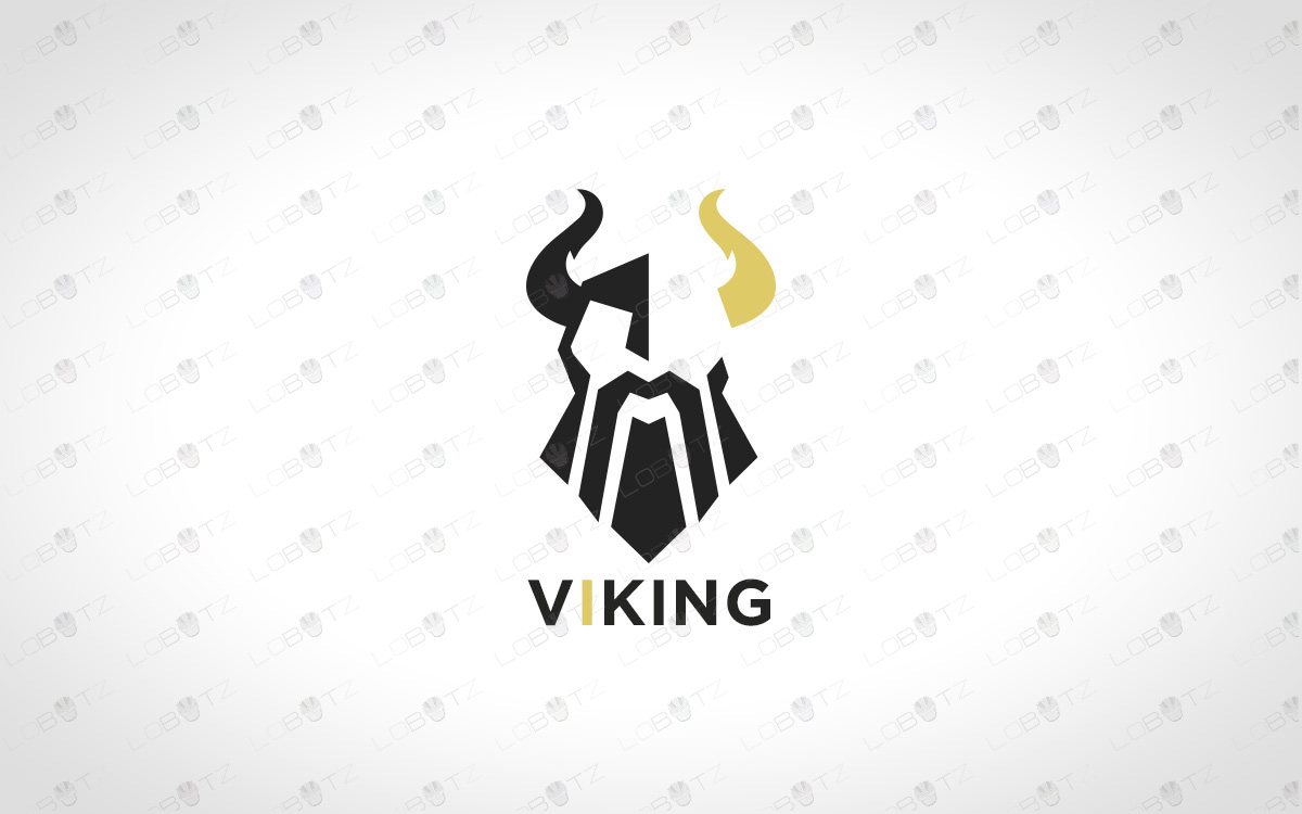 Minimalist Viking Logo For Sale Premade Viking Logo