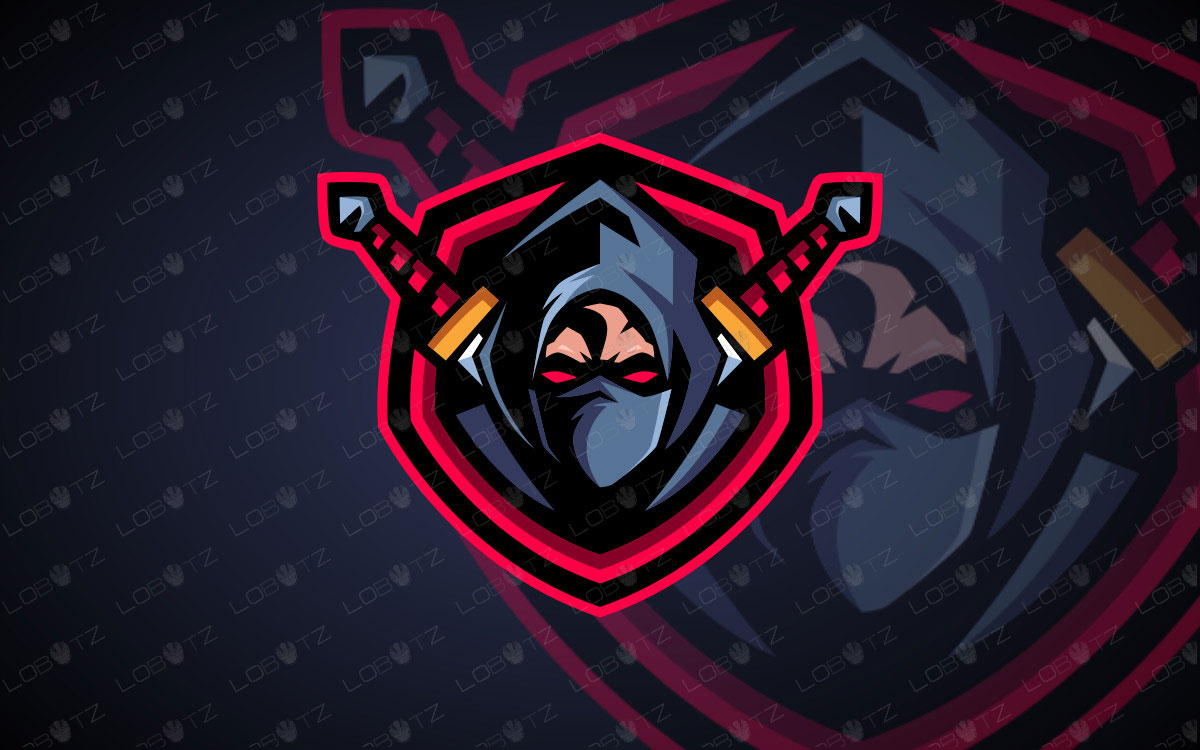 Assassin Mascot Logo For Sale | Ninja Mascot Logo