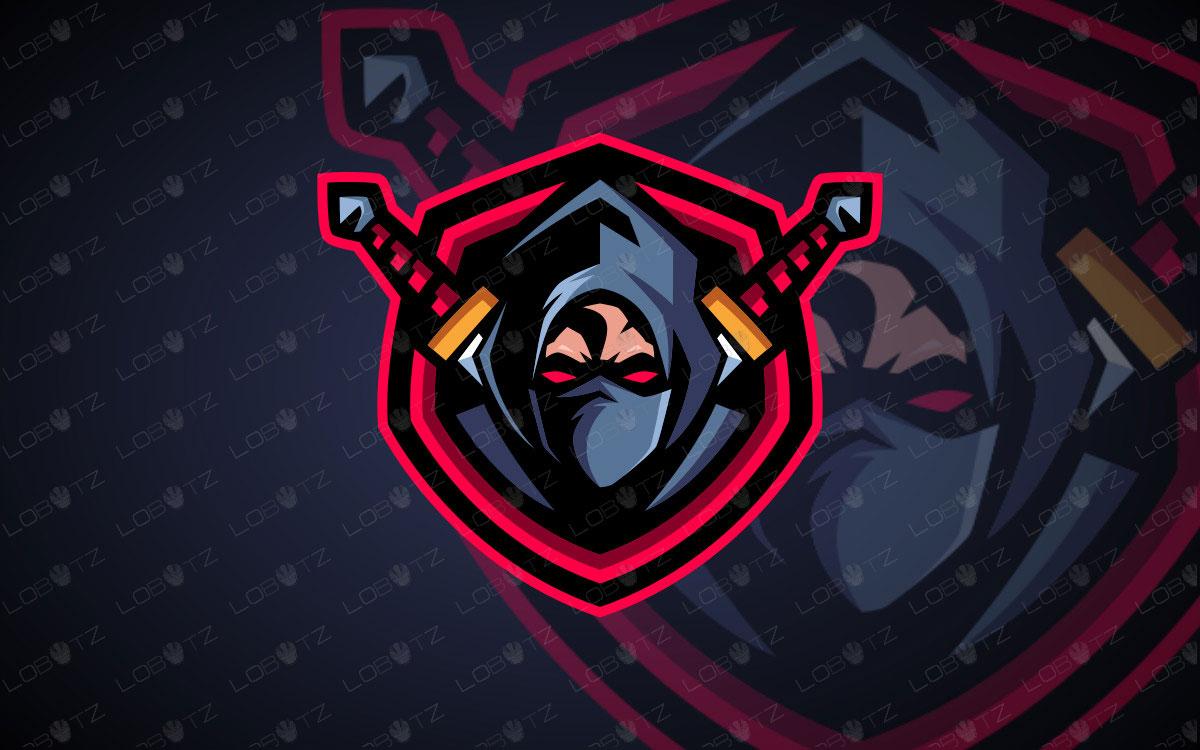Assassin Mascot Logo For Sale | Ninja Mascot Logo