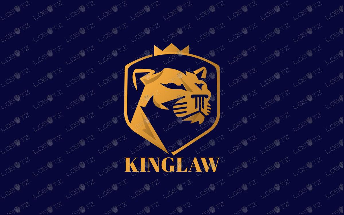 Lion Law Logo | Majestic King Lion Logo For Sale premade logos lion law logo