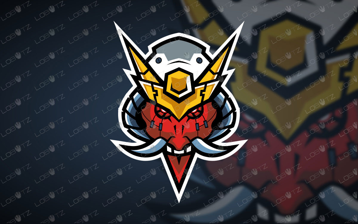 Oni Mecha Mascot Logo For Sale Oni Mecha eSports Logo