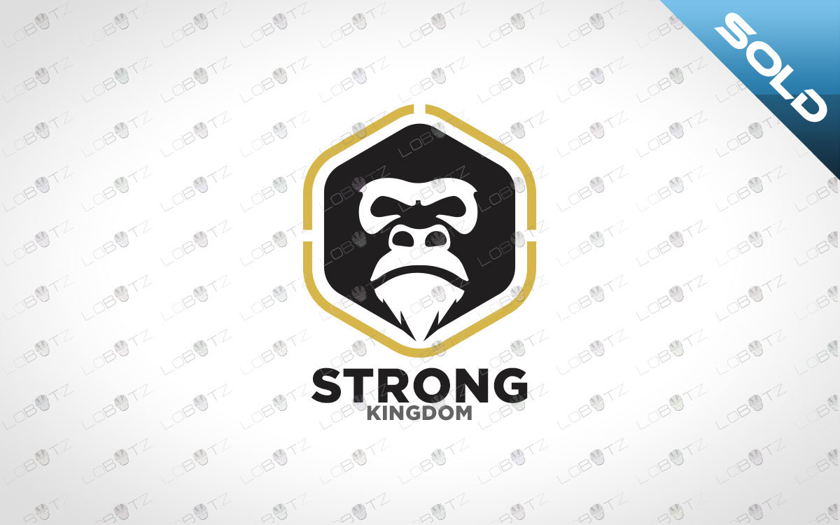 Minimalist Chimpanzee Logo | Strong Chimpanzee Logo For Sale