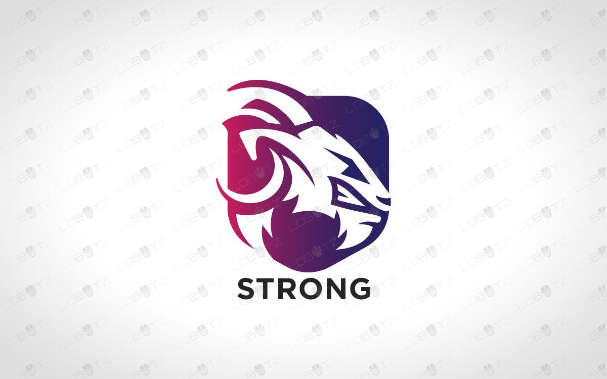 Goat Logo For Sale | Premade Goat Mascot Logo