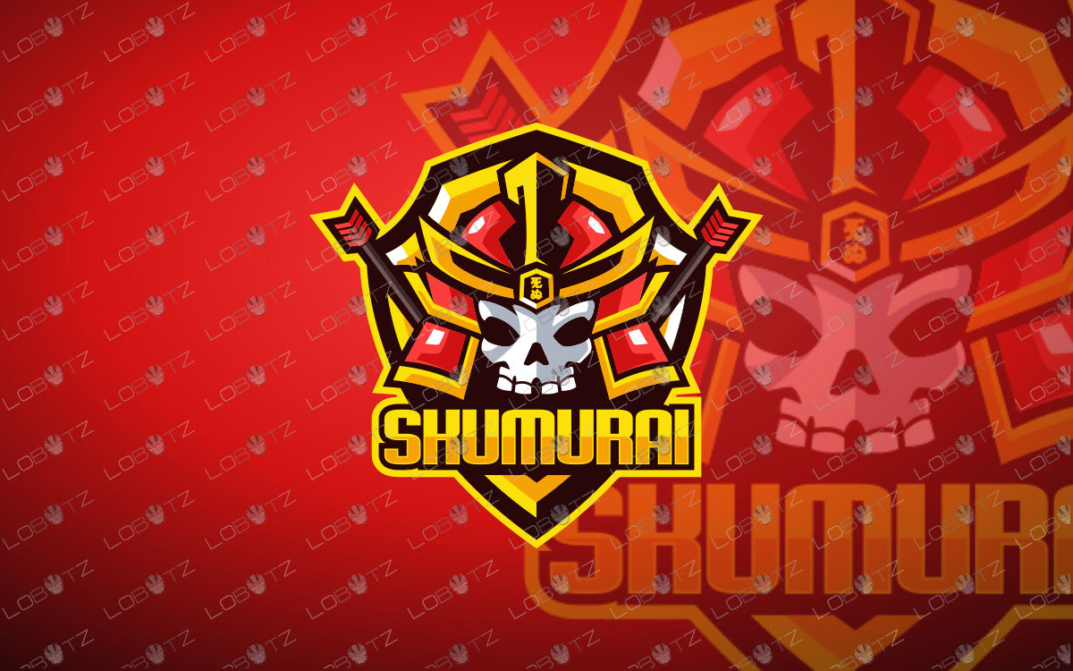 skull samurai mascot logo samurai esports logo premade logos