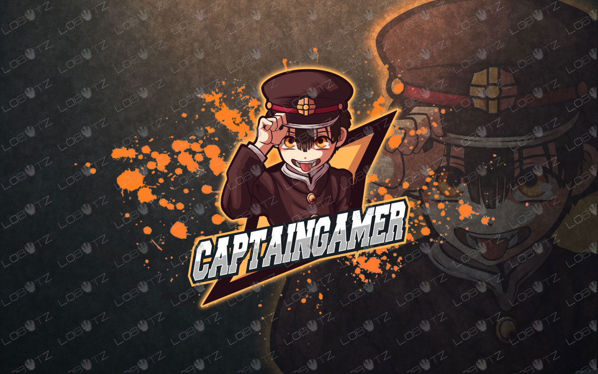 Captain Gamer Mascot Logo For Sale | Gamer eSports Logo premade logos