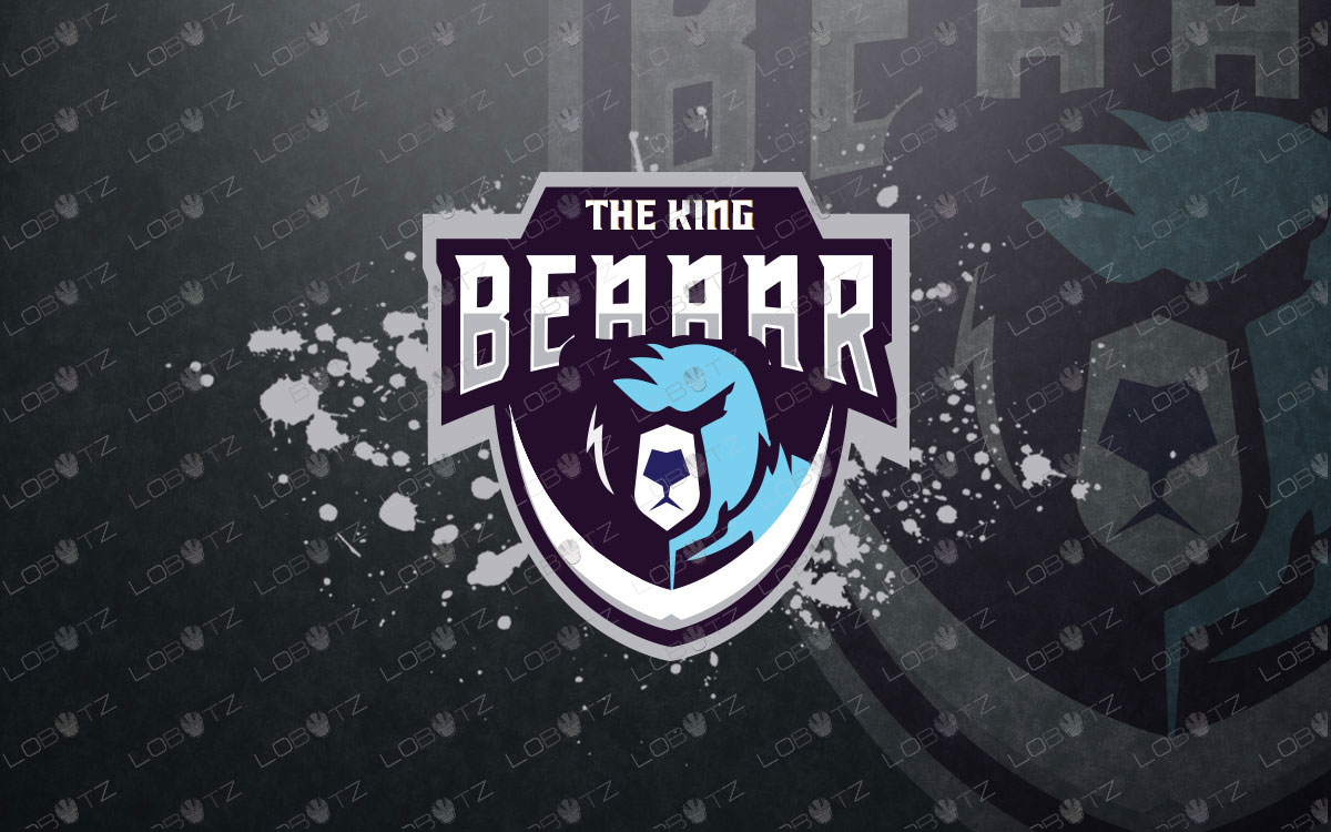 Bear Mascot Logo For Sale Premade Bear eSports Logo