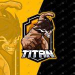 Titan Mascot Logo | Premade Titan eSports Logo For Sale