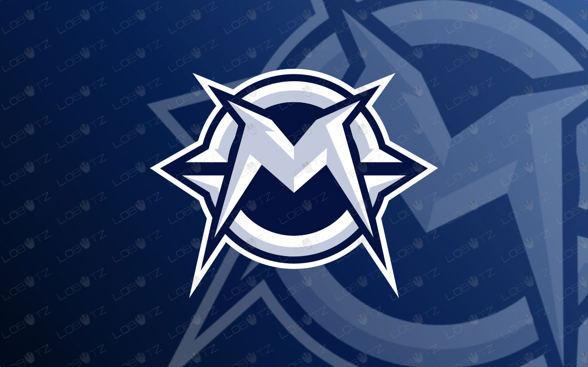 Letter M Mascot Logo For Sale | Mechanical M Logo