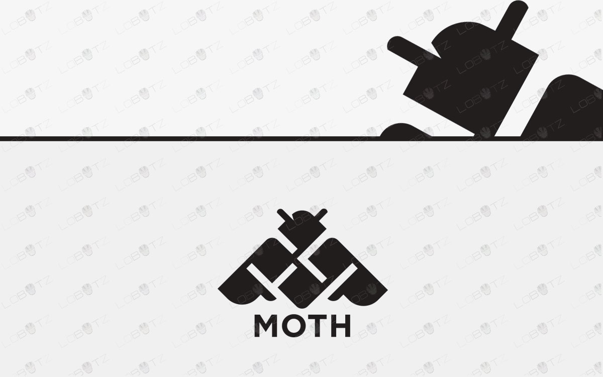 Modern Moth Logo For Sale | Premade Moth Logo