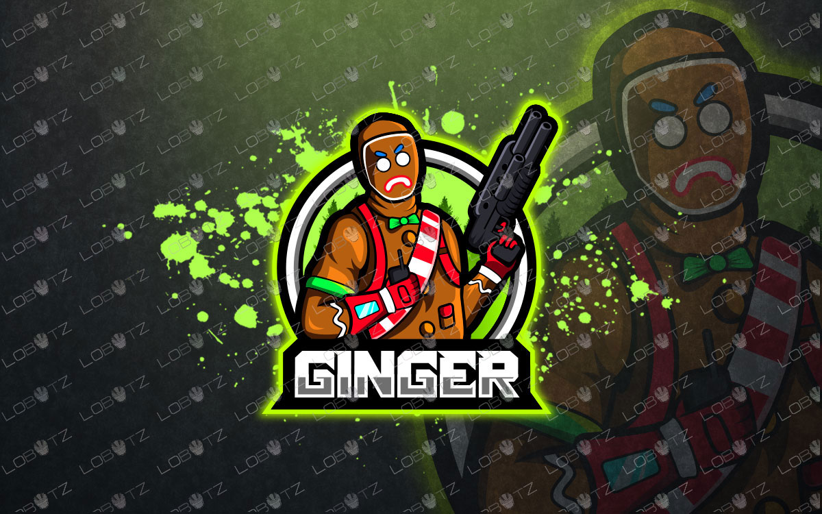 Gingerbread Fortnite Mascot Logo For Sale Gingerbread eSports Logo