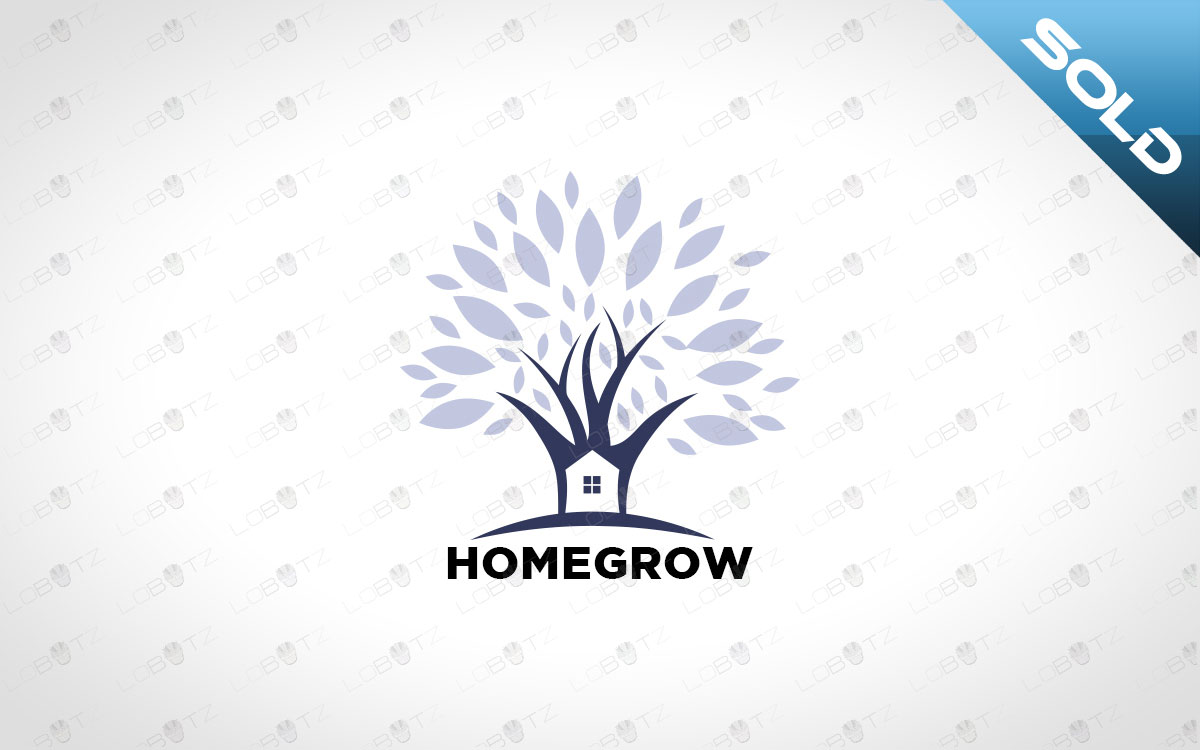 Modern Premade House Tree Logo For Sale home logo