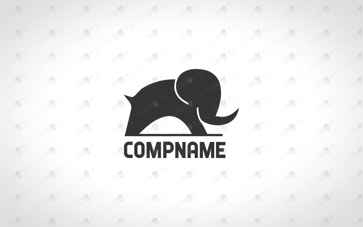 premade modern elephant logo for sale