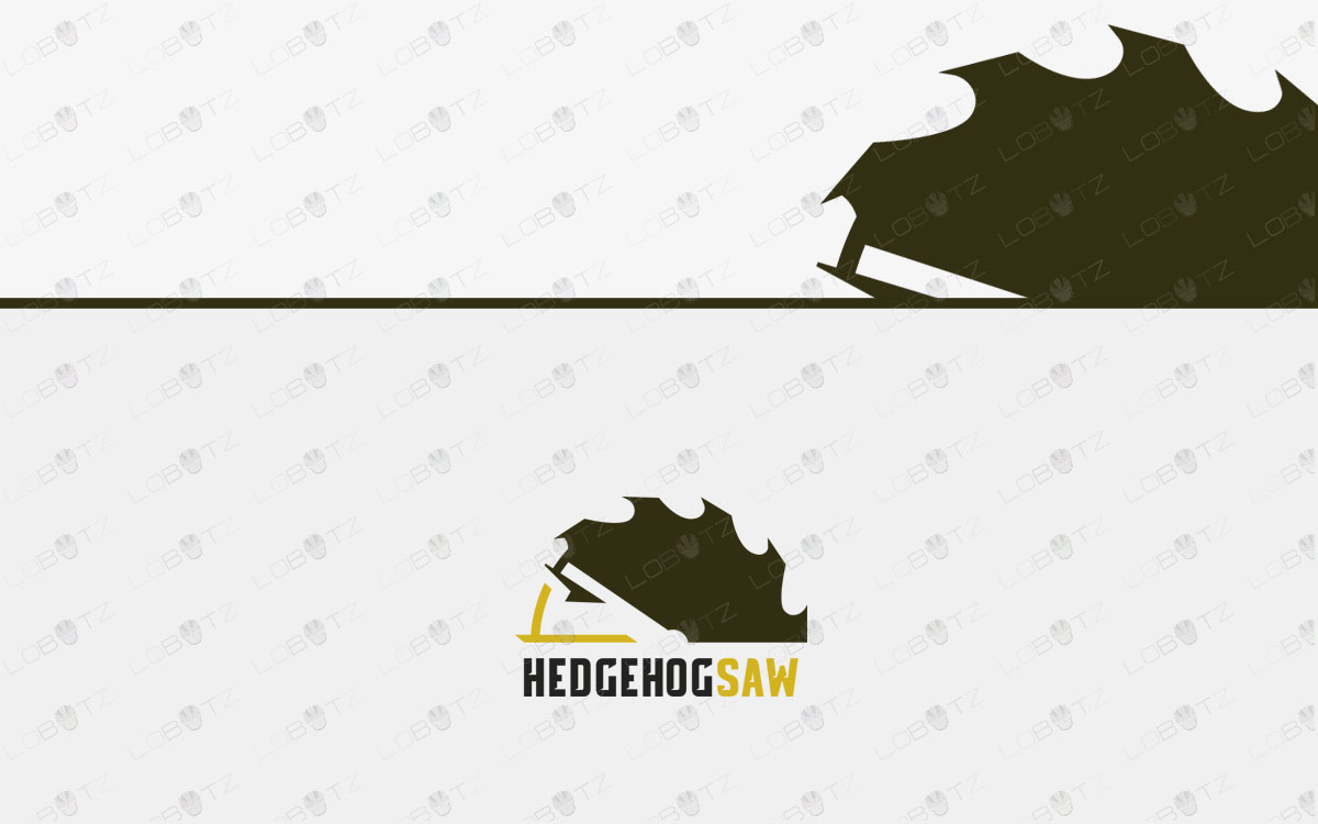 Modern Hedgehog Logo For Sale | Hedgehog Saw Logo