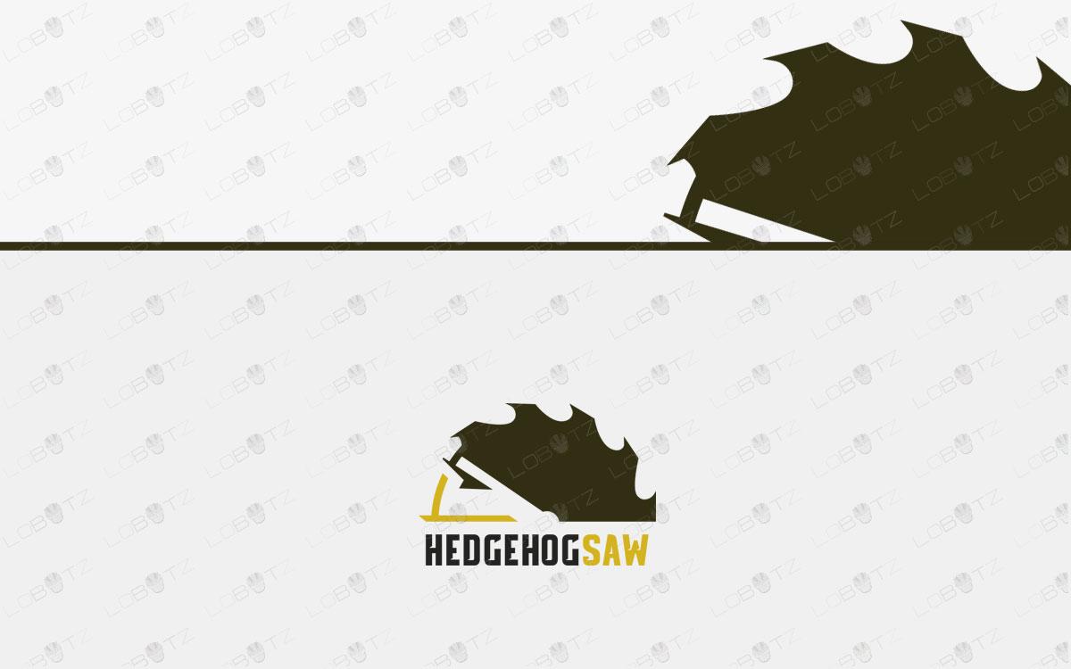 Modern Hedgehog Logo For Sale | Hedgehog Saw Logo