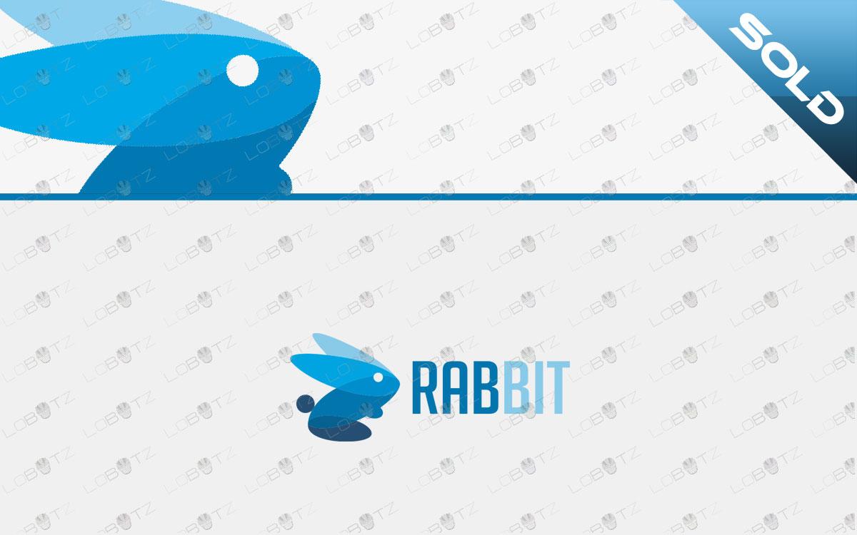premade rabbit logo for sale