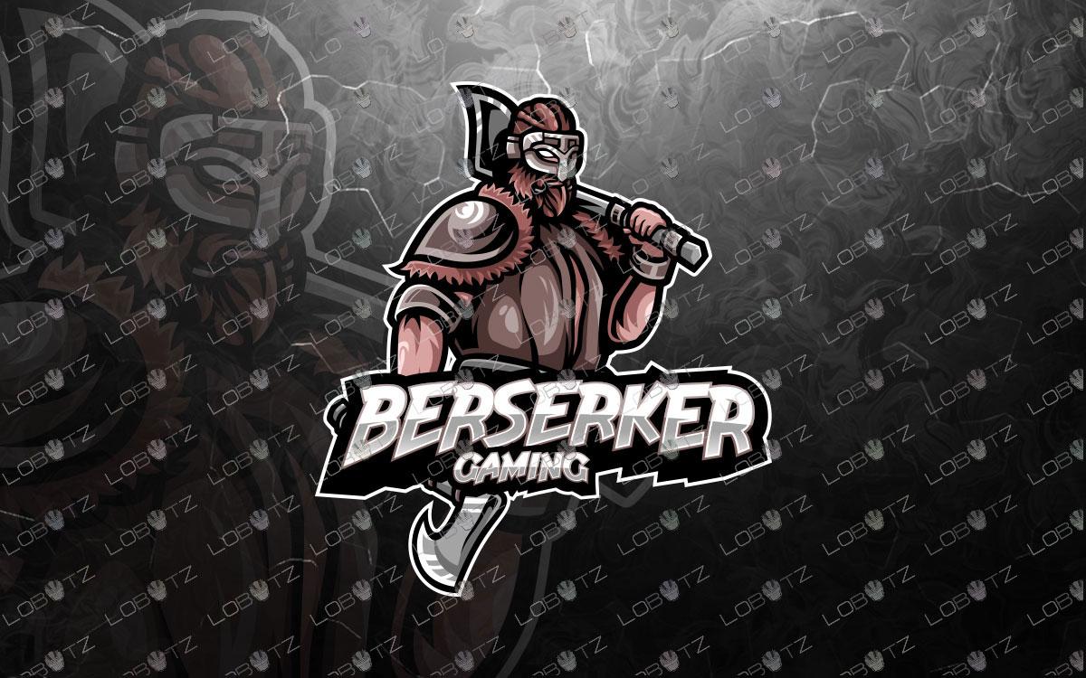 Premade Berserker Mascot Logo | Viking Mascot Logo