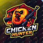 Chicken Hunter Mascot Logo For Sale | Chicken eSports Logo