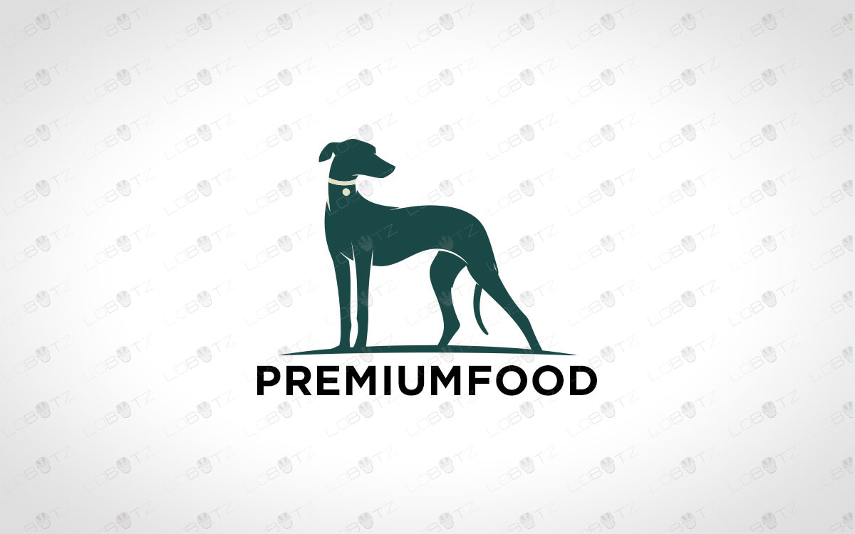 Premium Grey Hound Dog Logo For Sale