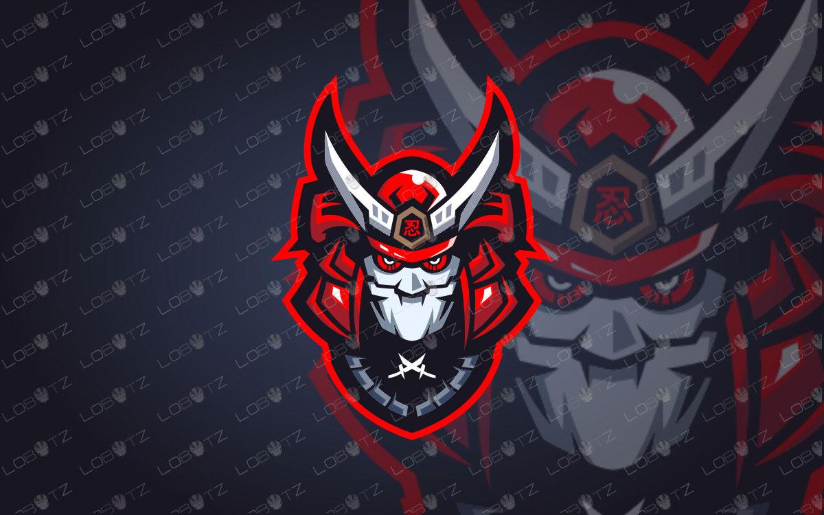 Robotic Samurai Mascot Logo | Robotic Samurai eSports Logo For Sale