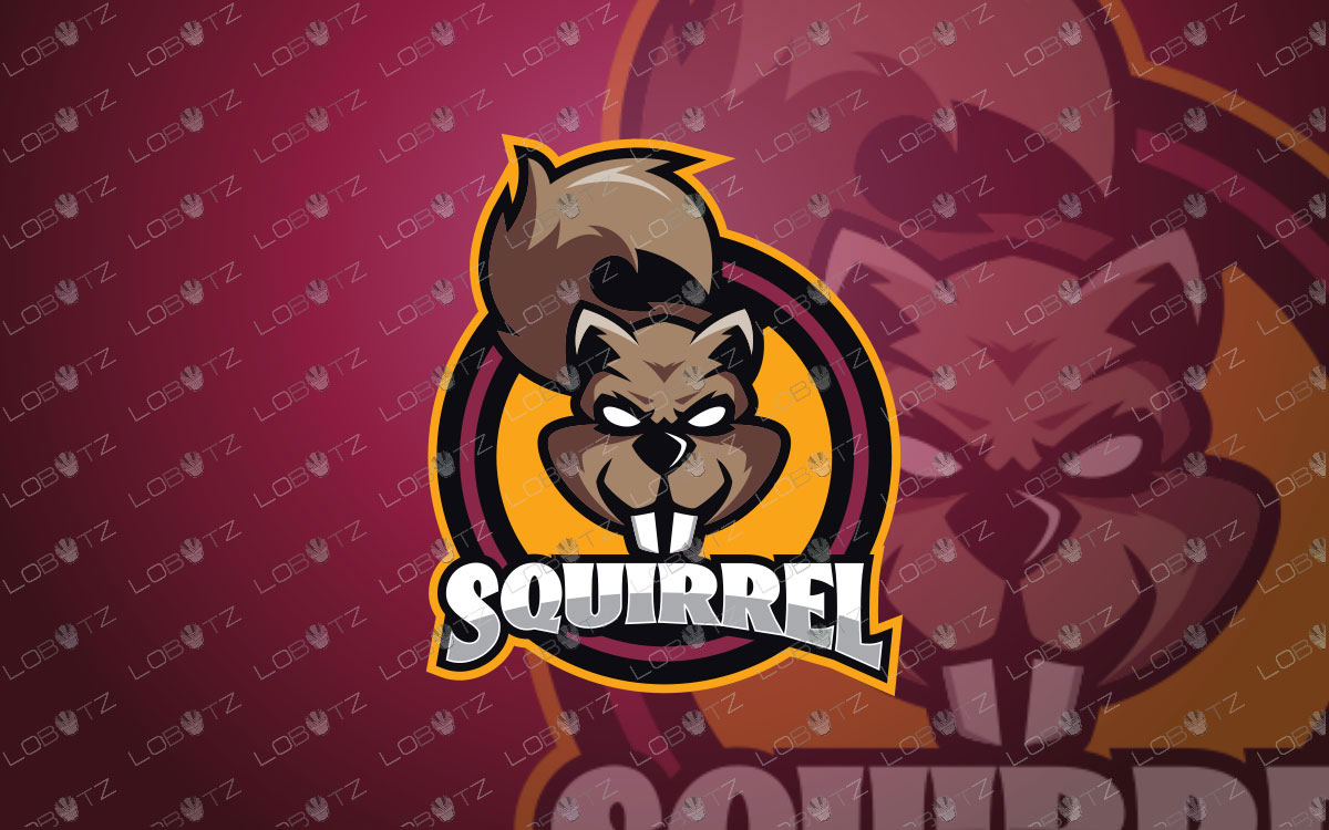 Squirrel Mascot Logo For Sale | Squirrel eSports Logo