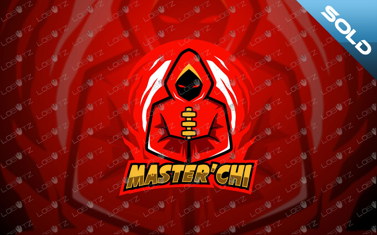 Tai Chi Master Mascot Logo | Premade Mascot Logo For Sale