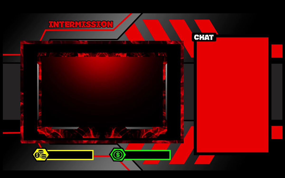 Animated Facecam Stream Package - Red Ruby Overlay