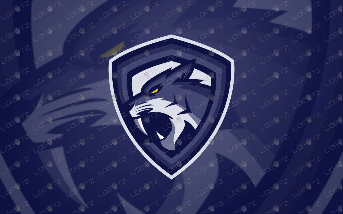 Sabertooth Mascot Logo | Premade Sabertooth eSports Logo For Sale