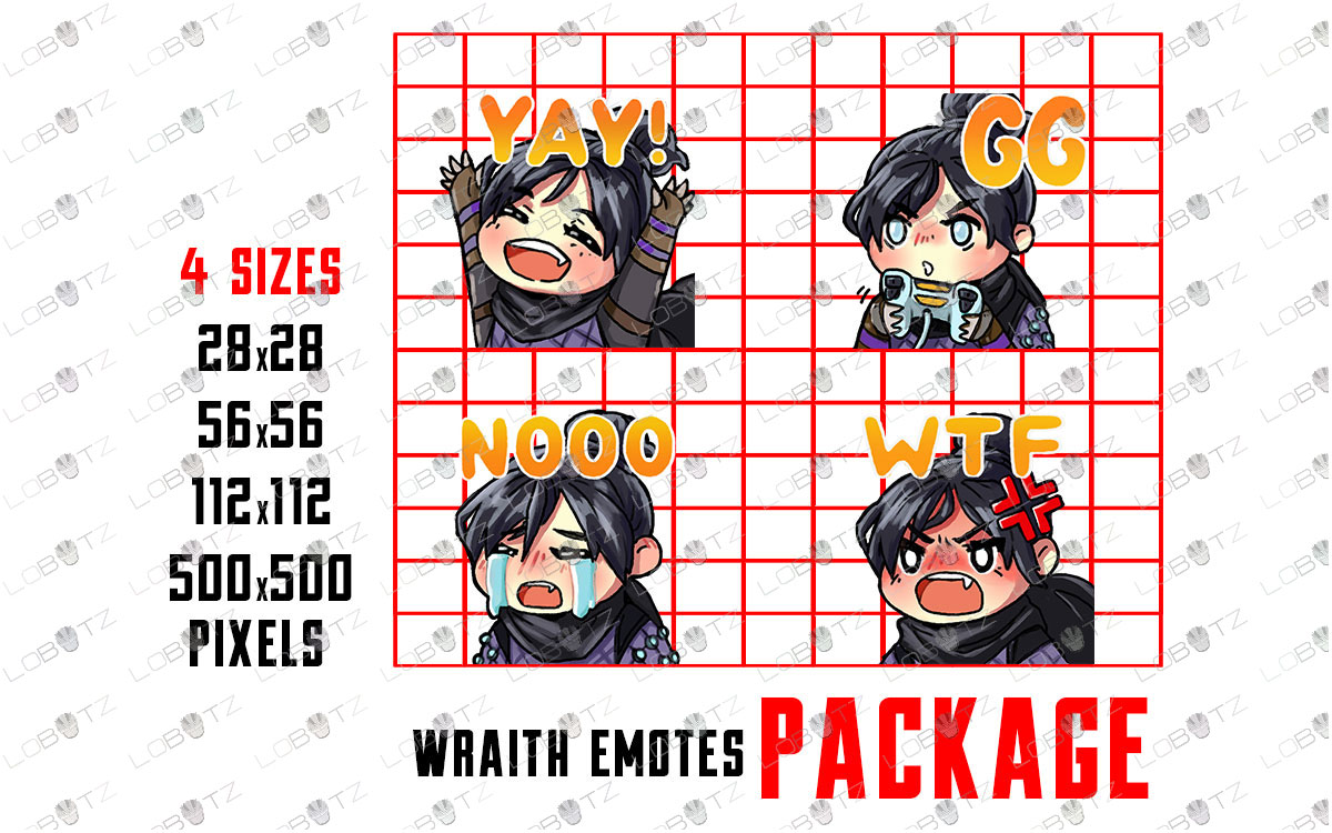 Apex Legends Wraith Emotes / Wraith Sub Badges For Twitch & Stream