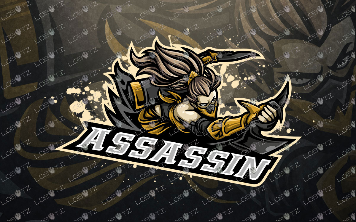 Girl Assassin Mascot Logo For Sale | Akali Mascot Logo