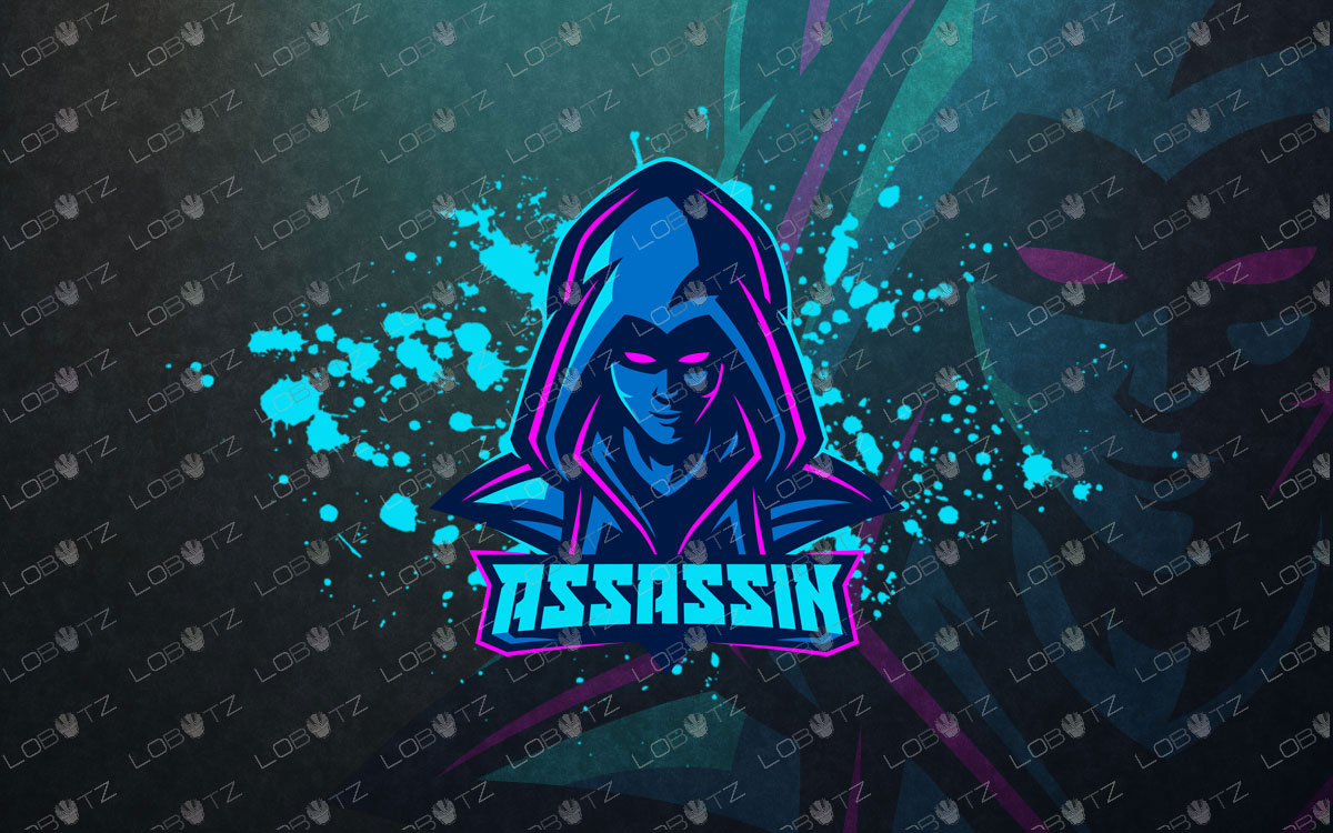Premade Assassin Mascot Logo For Sale   Assassin eSports Logo