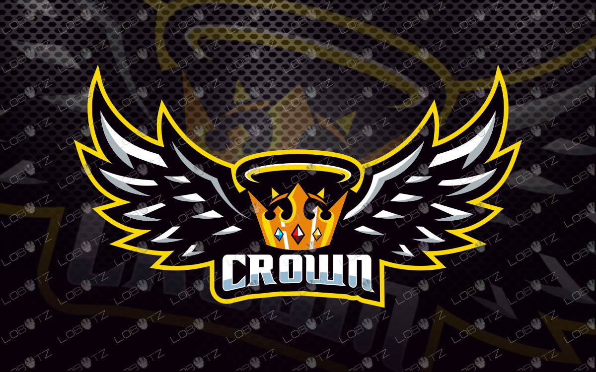 Crown Mascot Logo For Sale | Crown eSports Logo