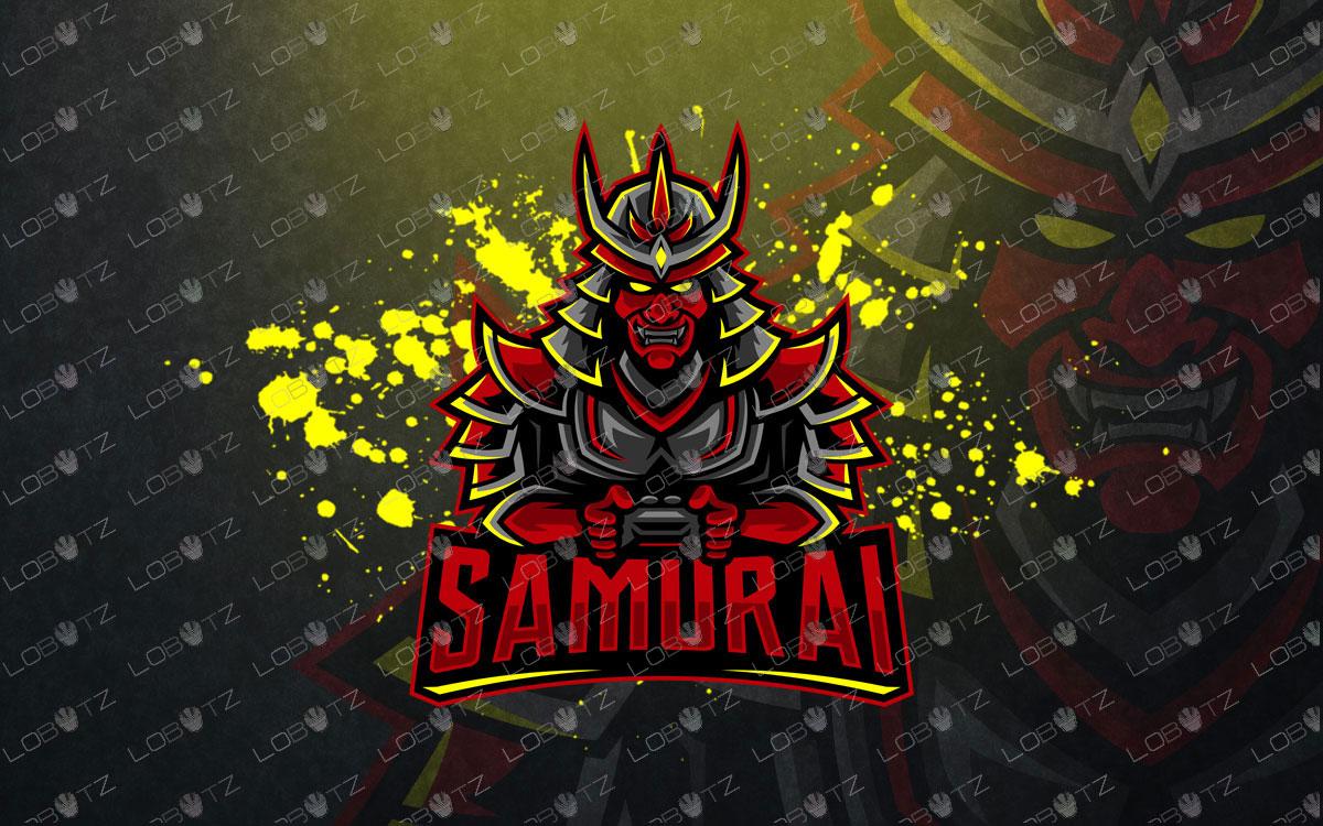 Gamer Samurai Mascot Logo Gamer Samurai eSports Logo