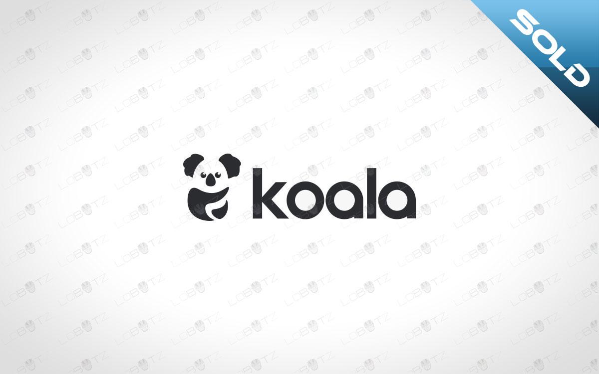 Modern Koala Logo For Sale Premade Koala Logo