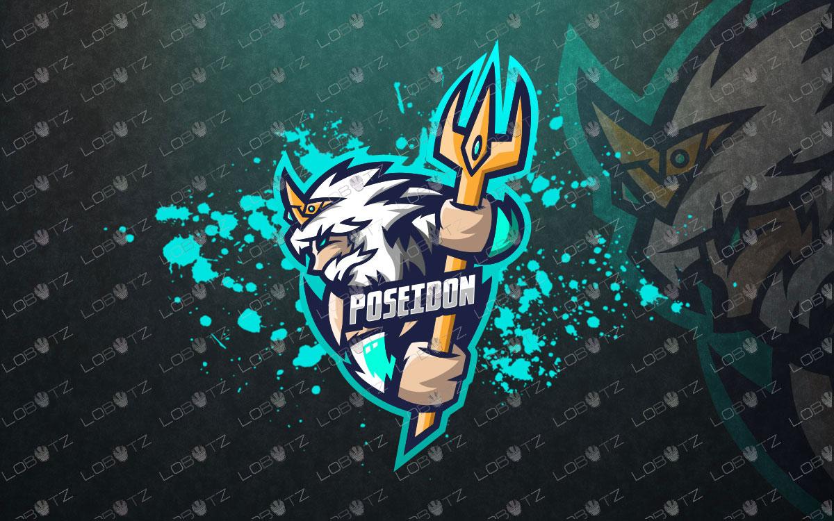Poseidonmascot logo for sale neptune logo premade logo