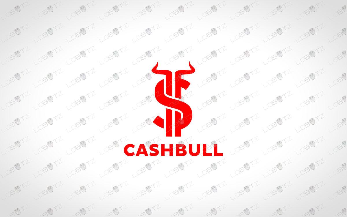 Cash Bull Logo For Sale | Premade Money Bull Logo