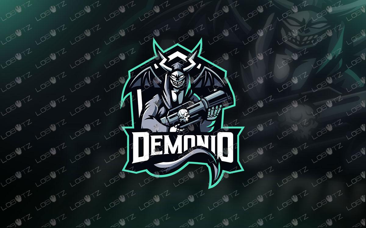 Devil Soldier Mascot Logo   Devil Soldier eSports Logo For Sale