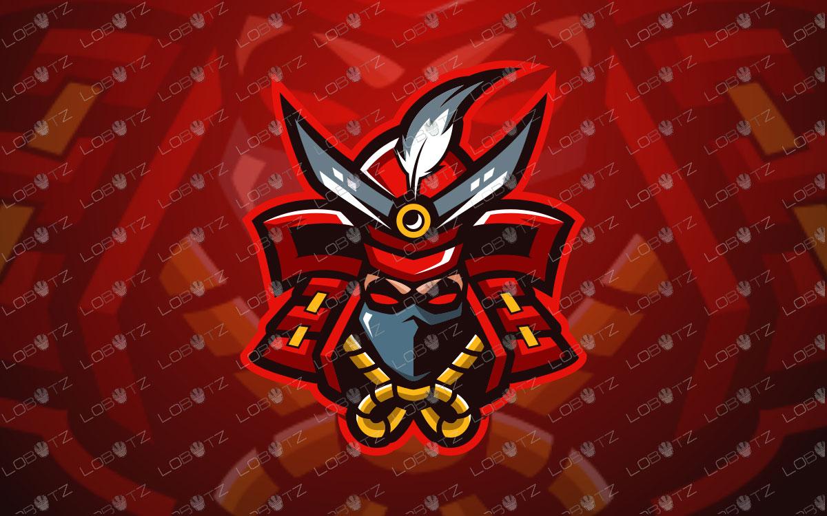 Samurai Mascot Logo For Sale | Shogun Mascot Logo