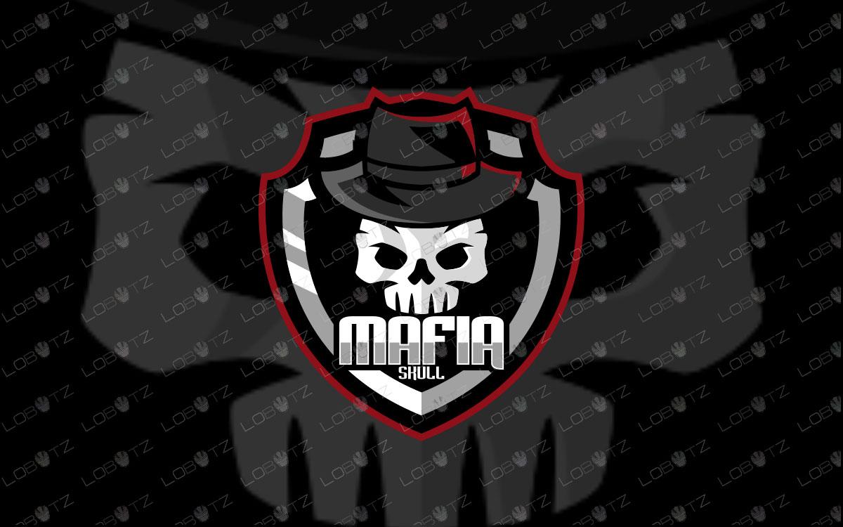Mafia Skull Mascot Logo | Skull Mafia Mascot Logo