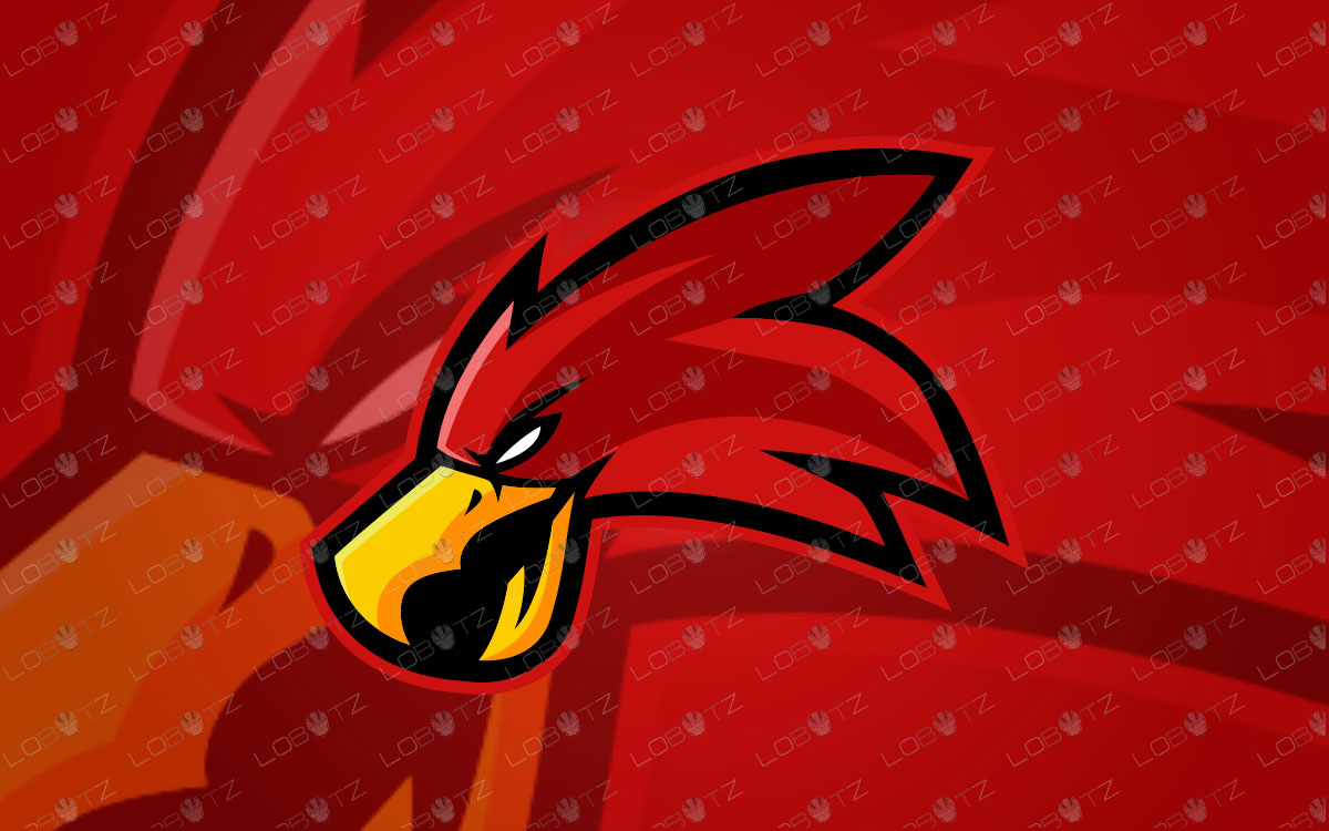 Red Hawk Logo Red Hawk Mascot Logo For Sale | eSports Logo
