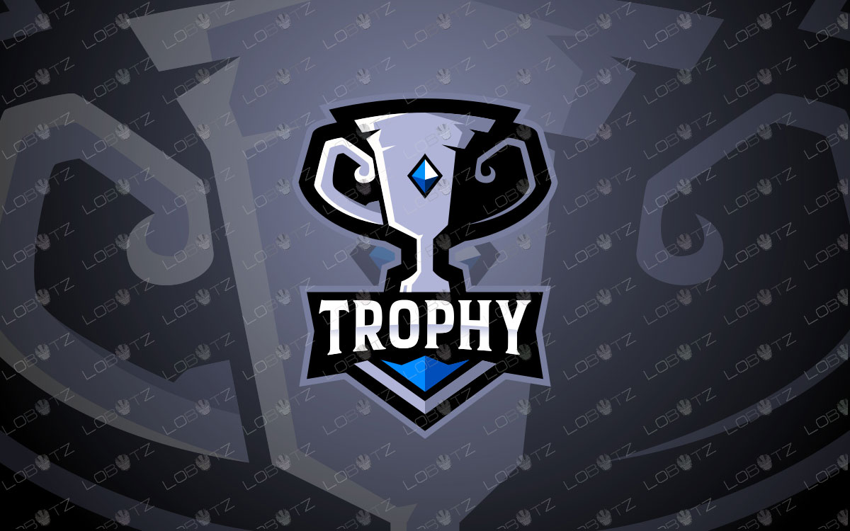 Premade Trophy Mascot Logo | Trophy Mascot Logo For Sale