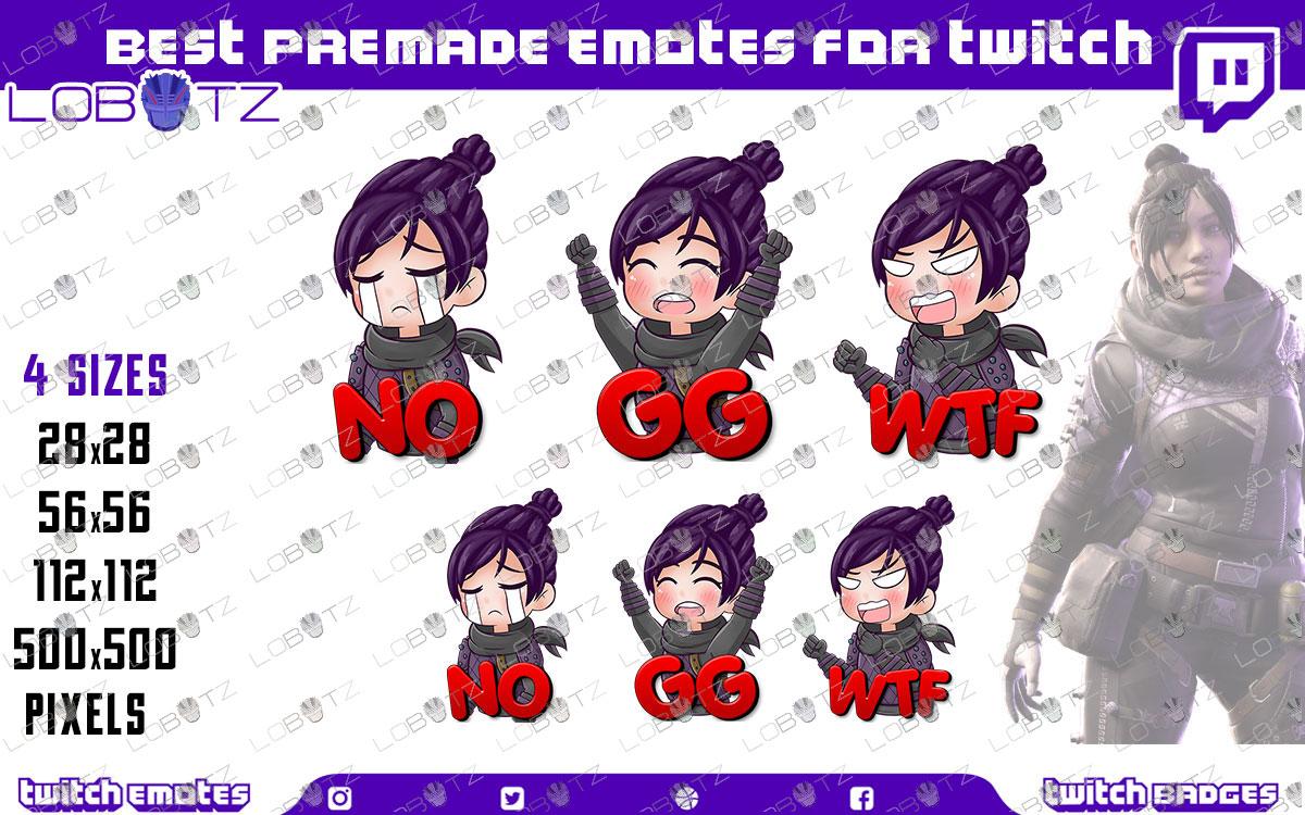 Apex Legends Wraith Emotes / Wraith Sub Badges For Twitch & Stream
