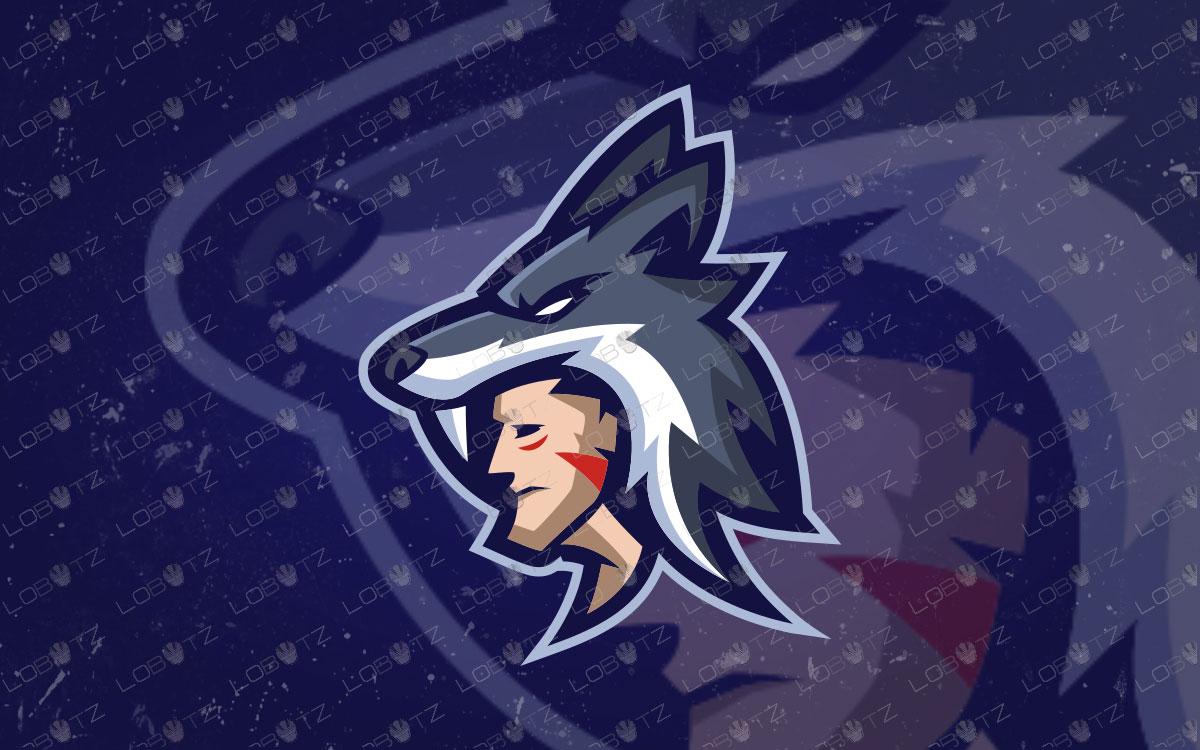 Wolfman Mascot Logo   Premade Wolfman eSports Logo For Sale