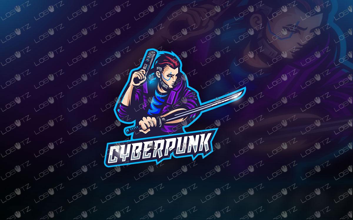 Cyberpunk Mascot Logo | Gaming Mascot Logo For Sale