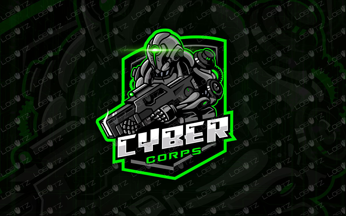 Cyber Soldier Mascot Logo Soldier eSports Logo Premade Logos