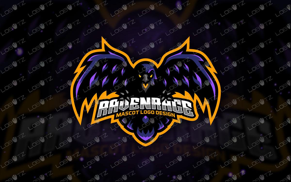 Raven Mascot Logo | Raven eSports Logo For Sale