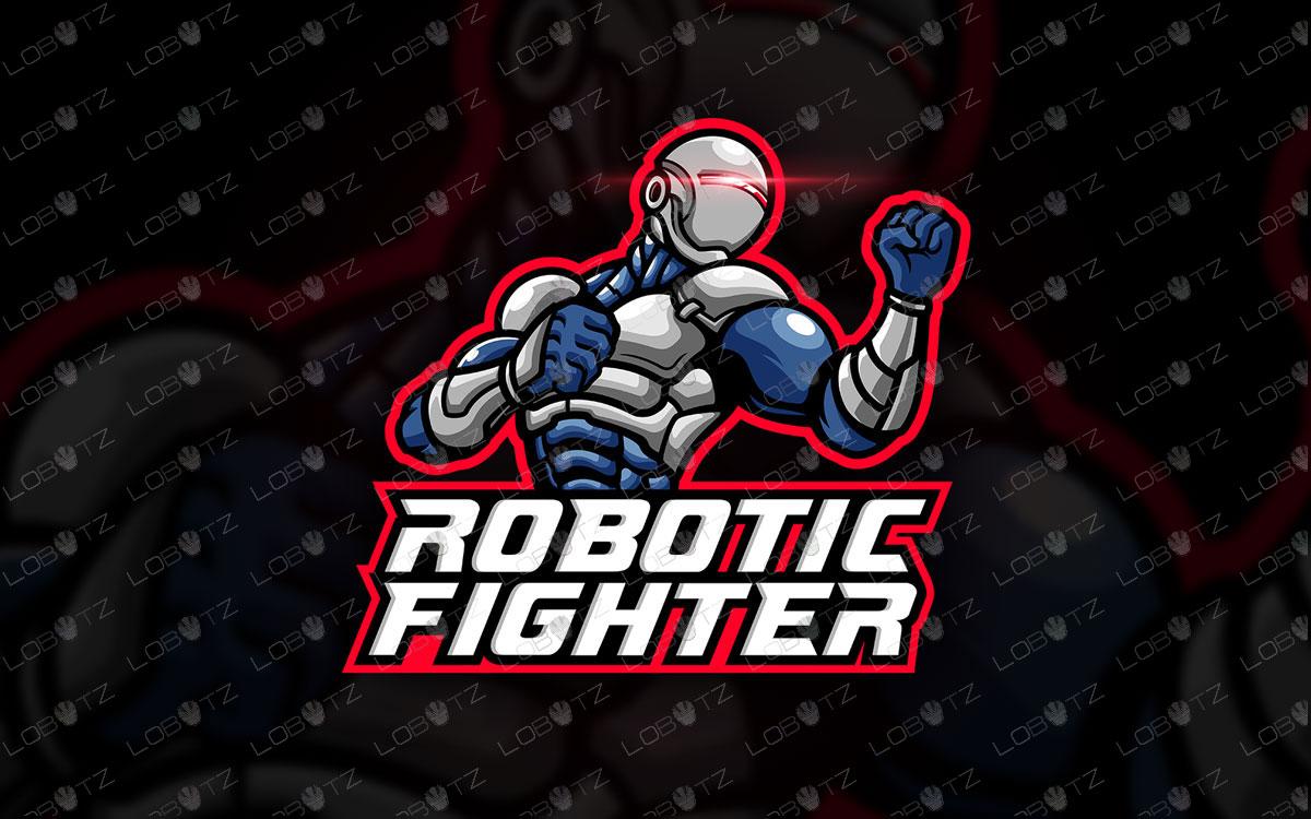Robot Mascot Logo | Robot Fighter Logo | Robot eSports Logo
