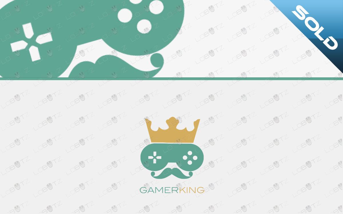 gamer king gaming logo for sale