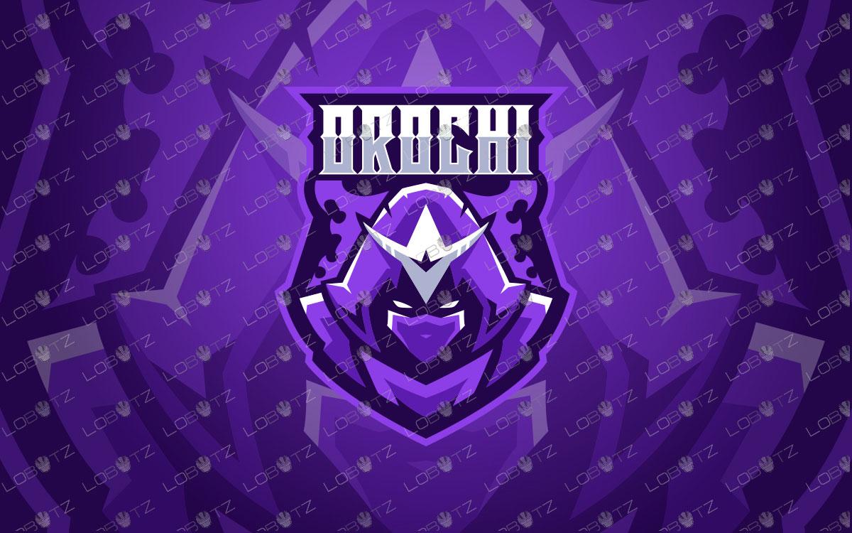 Orochi Mascot Logo For Sale | Ninja Mascot Logo | Assassin Mascot Logo